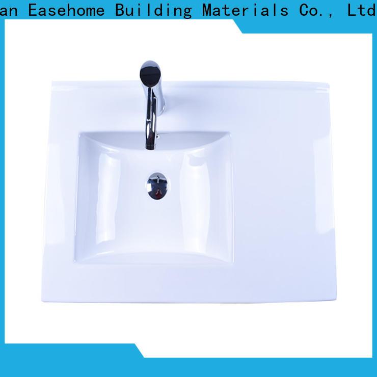 Easehome one piece porcelain undermount bathroom sink awarded supplier restaurant