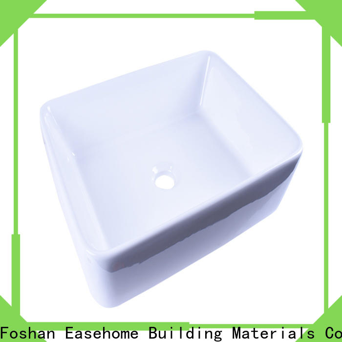Easehome pure white round porcelain sink wholesale home-use