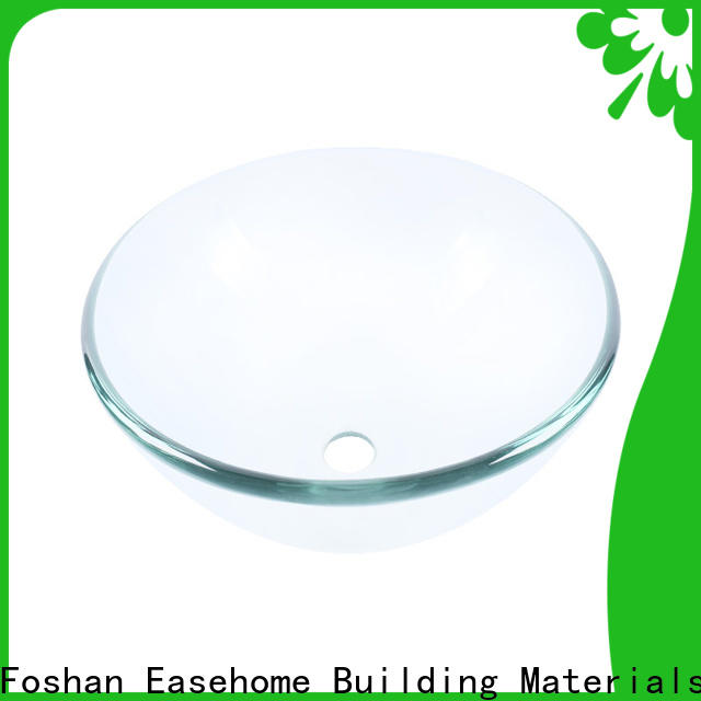 Easehome oval shaped double layer glass vessel sink trendy design apartments