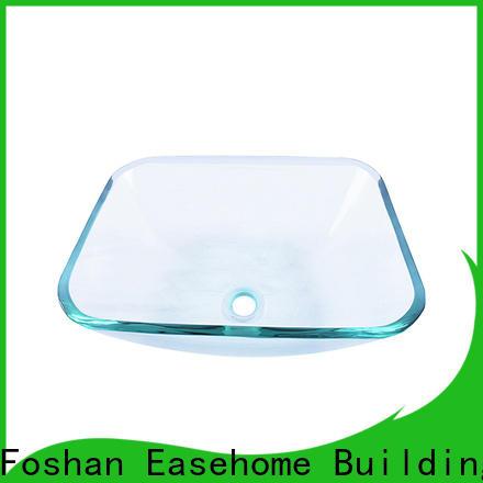 Easehome transparent brown glass vessel sink trendy design washroom