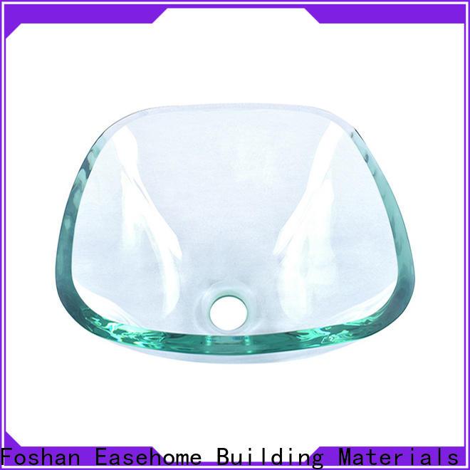 colorful glass bowl sink rectangular trendy design bathroom