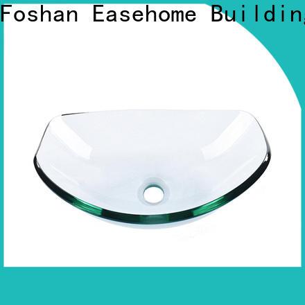 Easehome lotus shaped glass sink customization washroom