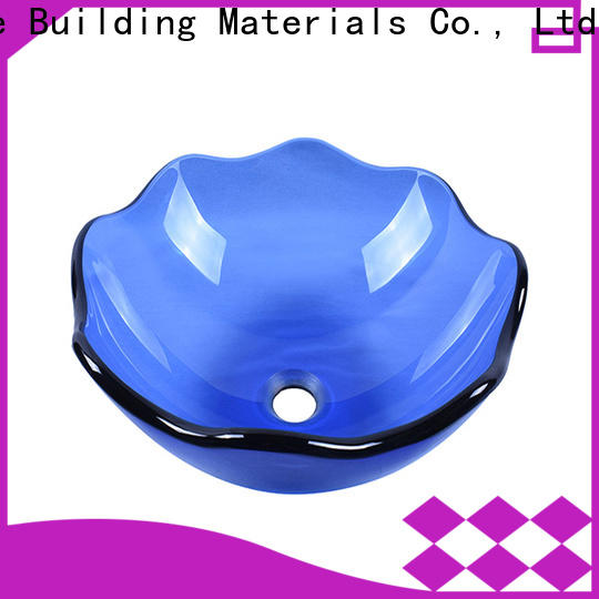 colorful glass bathroom sink bowls oval shaped best price washroom