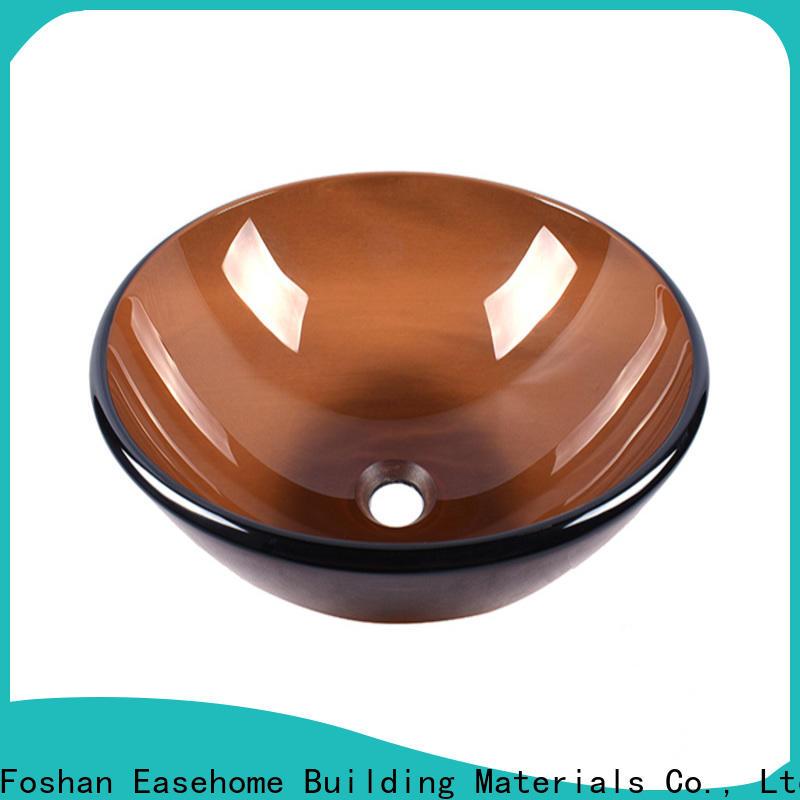 crystal glass vessel sinks bronze color best price washroom