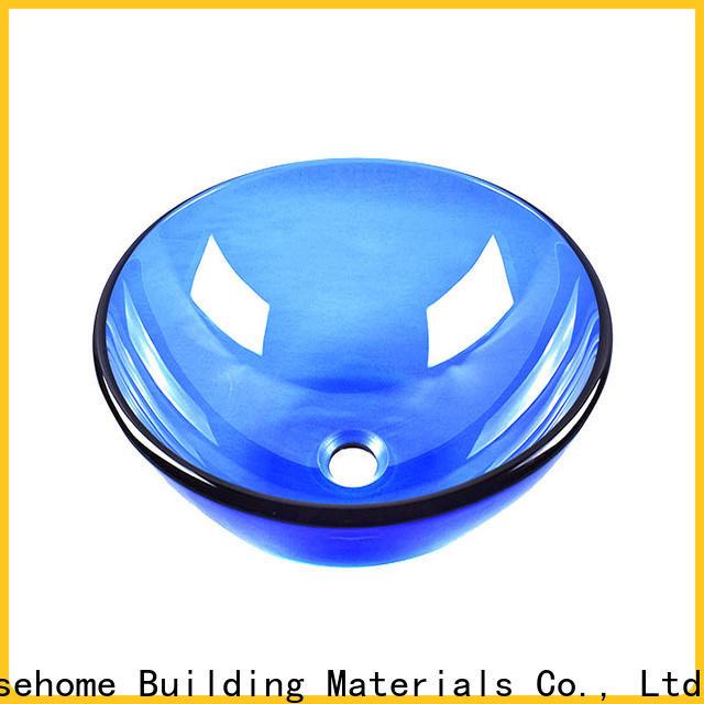 colorful glass wash basin transparent customization apartments