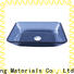 Easehome oval shaped glass bowl sink customization bathroom