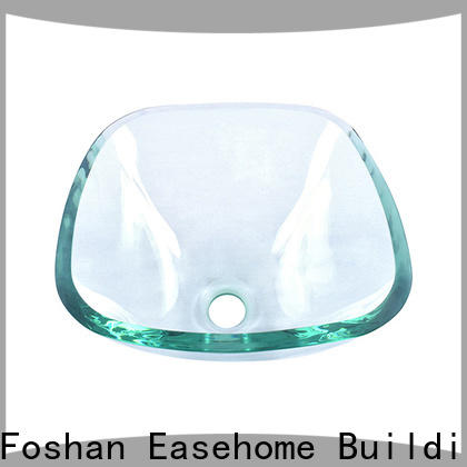 lotus shaped wall mount glass sink bowl round trendy design apartments