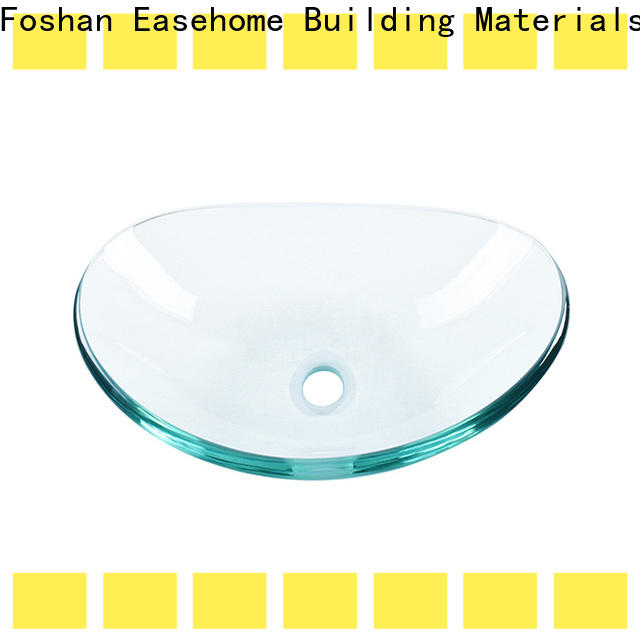 colorful brown glass vessel sink oval shaped customization washroom
