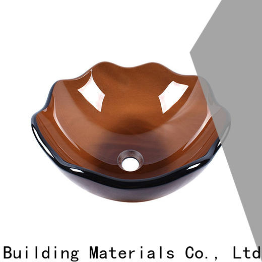 lotus shaped glass vessel sinks oval shaped trendy design apartments