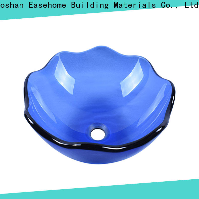 crystal glass vessel bowl oval shaped customization washroom