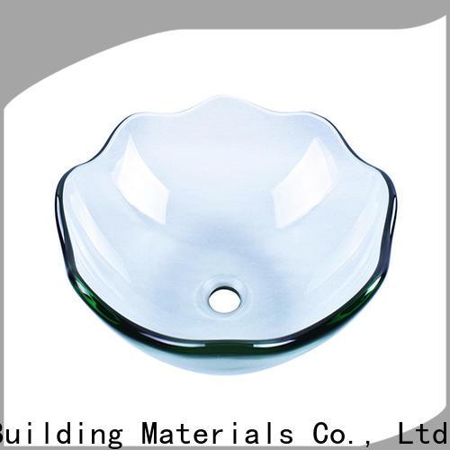 Easehome lotus shaped glass vessel bowl customization washroom