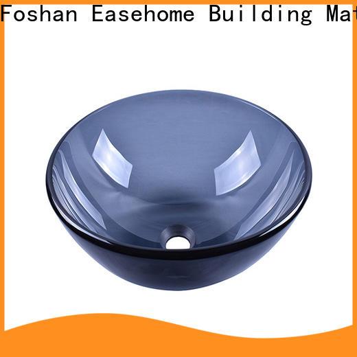 crystal glass basin oval shaped best price washroom