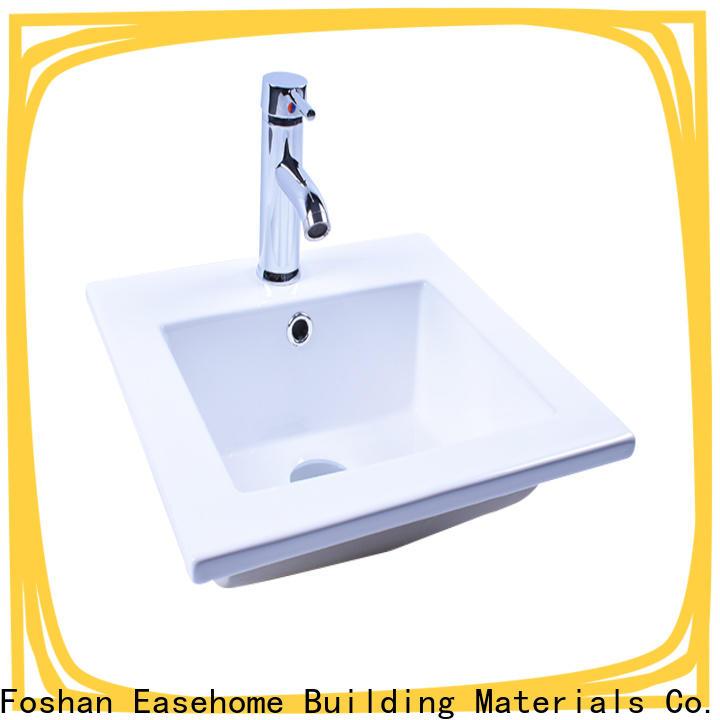 Easehome one piece porcelain wash basin wholesale restaurant