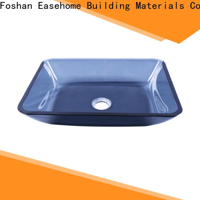 Easehome super white glass vessel sinks trendy design bathroom