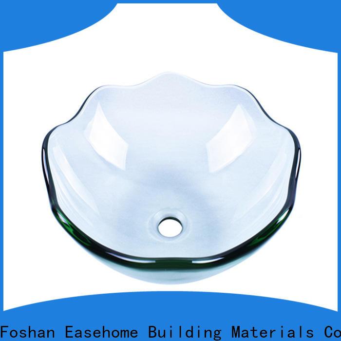 crystal glass vessel semitransparent trendy design bathroom