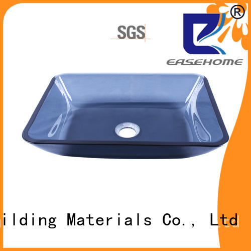 Easehome lotus shaped glass vessel sinks customization washroom
