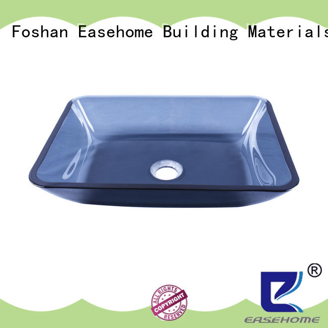 Easehome crystal glass basin sink bowl round apartments