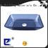 Rectangular Shape Black Semi-Transparent Glass Vessel Sink