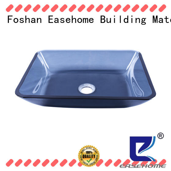 Easehome crystal glass basin trendy design apartments